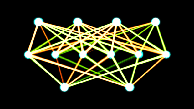 """A cool graph demonstrating a single-layer neural net, which is related to machine learning. Image by """"Akritasa""""; licensed under CC BY-SA 4.0."""